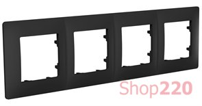 Рамка четвертная CLASSIC, антрацит, PLK1040241 Plank Electrotechnic