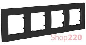 Рамка четвертная NORDIC, антрацит, PLK1040242 Plank Electrotechnic