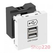 Розетка USB для зарядки, белый, 6105300 Obo Bettermann