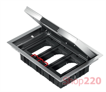 Металлический лючок для розеток, 12 модулей, OptiLine 45 ISM51636 Schneider Electric