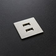 Розетка USB в мебель, нержавеющая сталь, Versapick ASA 060.29Z.00009