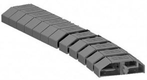 Гибкий кабель-канал для проводов, черно-серый, OBO Bettermann 6154930