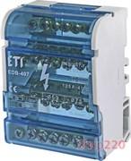 Блок распределительный на din-рейку 125А, 4 полюса, EDB-407 ETI 1102303